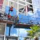 Trabalhadores executando projeto Fachada Glazing / Pele de Vidro executado pela Cristal Glass