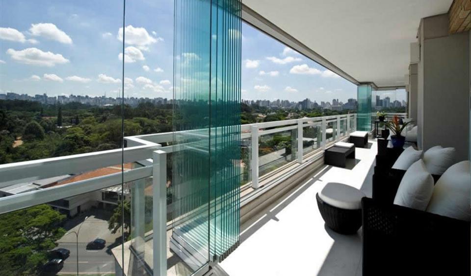 Projeto Acabado Cortina de Vidro Executado pela Cristal Glass